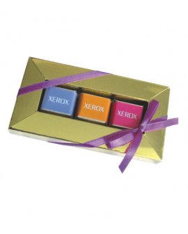 3-Chocolate Cube Frame box